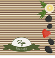 Stones and bamboo shoots vector image