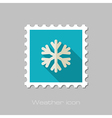 Snowflake Snow flat stamp Meteorology Weather vector image