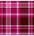 Seamless Red and Pink Checkered Fabric Pattern vector image vector image