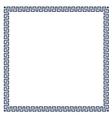 Greek simple decorative frame for design vector image