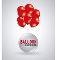 balloon icon design vector image