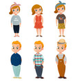 children clothing set vector image