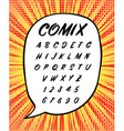 Comics or House Sign Handwritten Font in vector image
