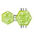 drawing computer circuit hexagon electronic vector image