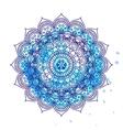 Mandala over colorful watercolor Invitation t vector image