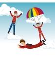 sky diver parachutist sport design vector image