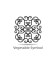 vegetable or geometrical symbol vector image