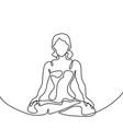 woman doing exercise yoga lotus pose vector image