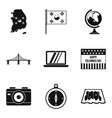 world point icons set simple style vector image