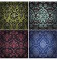 Set of vintage patterns vector image