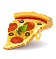 cheesy pizza slice vector image vector image
