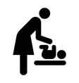 Baby care room symbol vector image