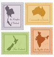 set of vintage stamps vector image