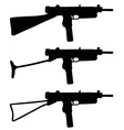 Old short automatic guns vector image