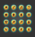 Set of button for game design-2 vector image
