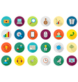 Business communication round icons set vector image vector image