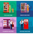 Stylish Colorful Vending Machines vector image