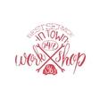 Best Workshop Red Vintage Stamp vector image