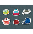Handbag stickers vector image vector image