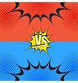 Versus wording comic fight template vector image