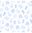 Science pattern blue icons vector image