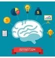 Brainstorm business and finance concept flat vector image