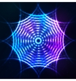 Bright shining blue neon circle at dark cosmic vector image