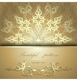 Calligraphic pattern with butterflies vector image