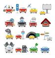 cars set vector image