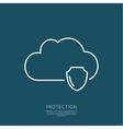 Cloud Security Concept vector image