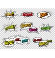 comic book sound effect speech bubbles vector image