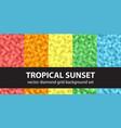 diamond pattern set tropical sunset seamless vector image