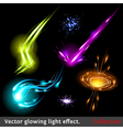 light effects set vector image