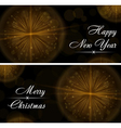 Merry Christmas happy New Year celebration card vector image