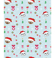 Seamless christmas pattern with teddy bears vector image