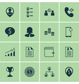 set of 16 management icons includes business deal vector image