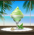 sundae ice cream vector image