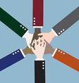 teamwork hands vector image