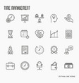 time management thin line icons vector image