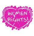Women rights symbol vector image