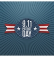 Patriot Day 9-11 Badge with Ribbon vector image