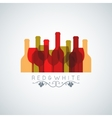 wine glass and bottle abstract background vector image