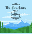 background with mountains and forest vector image