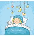 Adorable sleeping child vector image