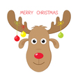 Christmas moose vector image