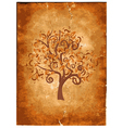 Old grunge paper with wood vector image