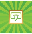 Cottage message picture icon vector image