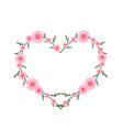 Beautiful Pink Daisy Flowers in Heart Shape vector image