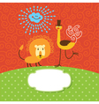 Children greeting card vector image