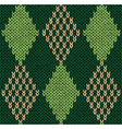 Style Seamless Green Color Knitted Pattern vector image